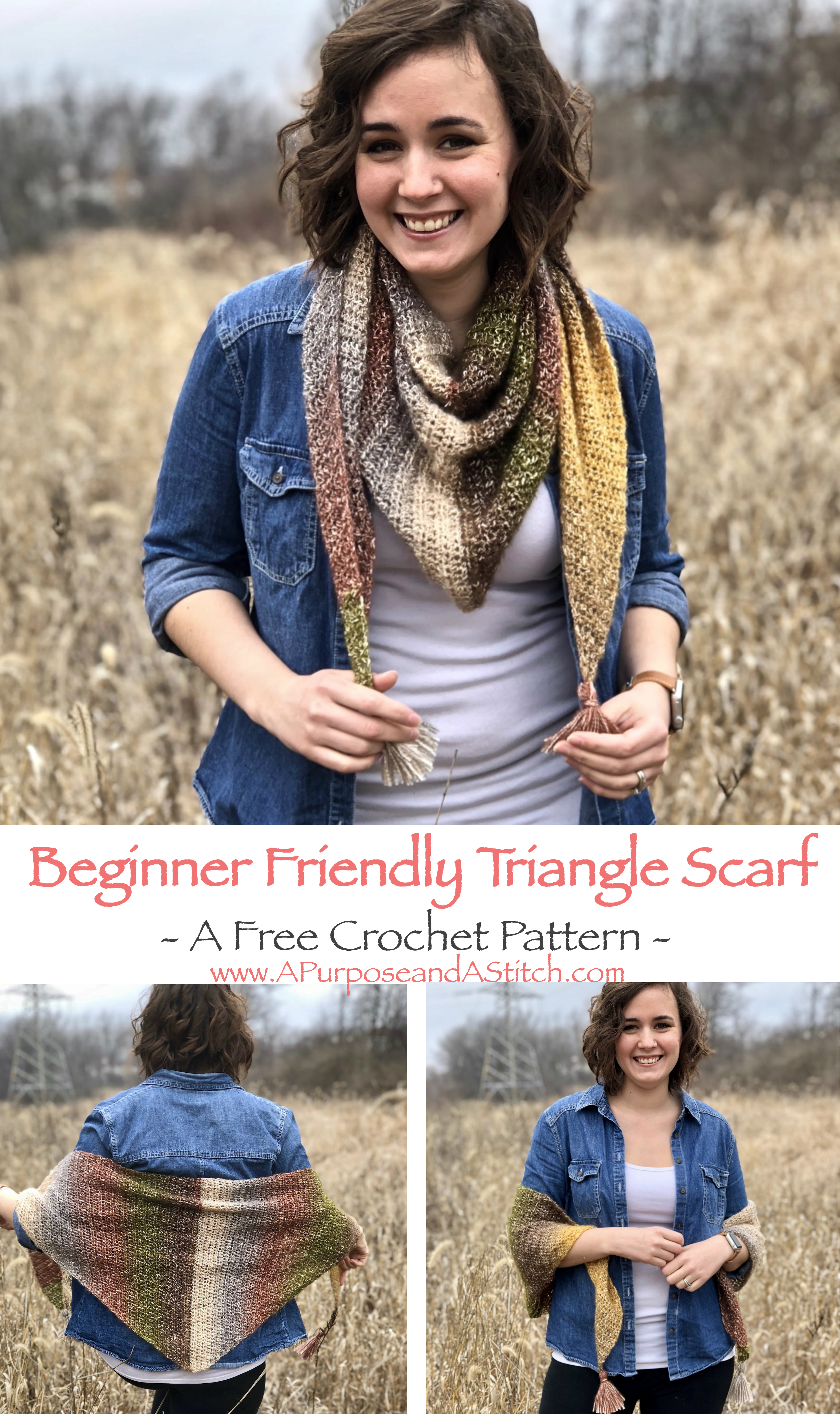 Beginner Friendly Triangle Scarf