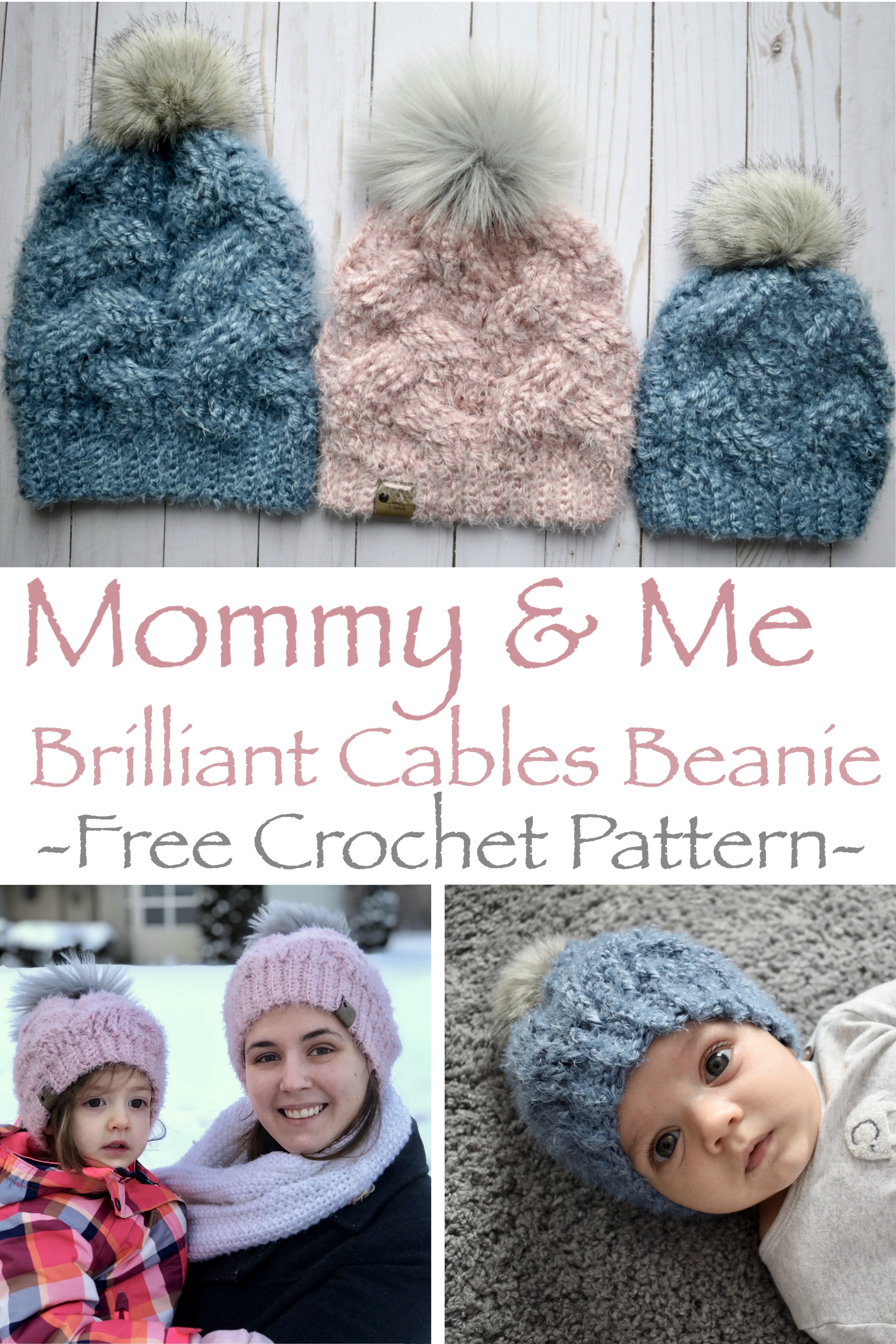 Mommy & Me Brilliant Cables Beanie