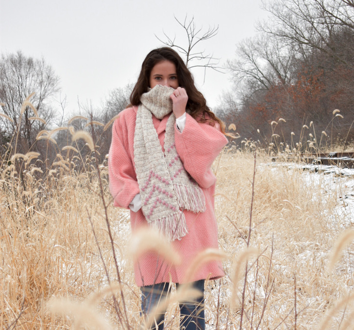 Bobbles Up Scarf- Free Crochet Pattern
