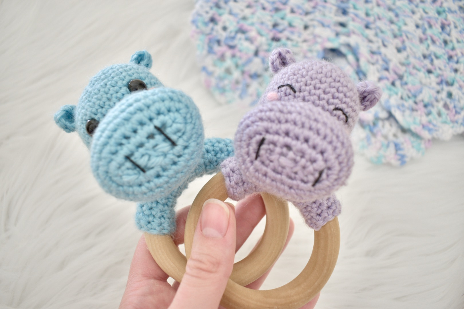 Hippo Rattle Teething Ring- Blog Post