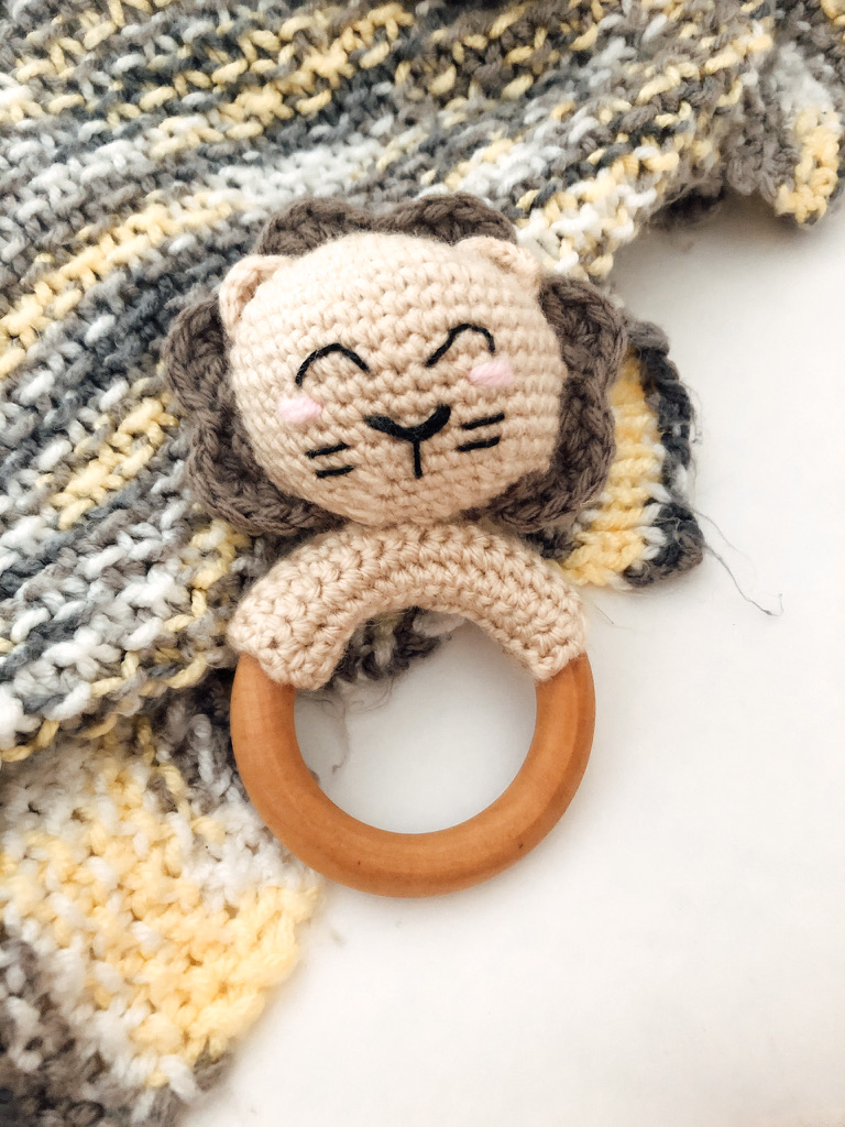 Lion Teething Rattle- Blog Post